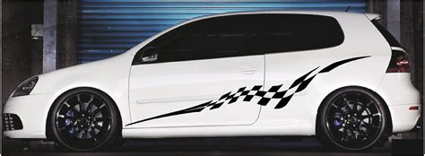 Race Car Vinyl Graphics, Checkered Racing Auto Graphics