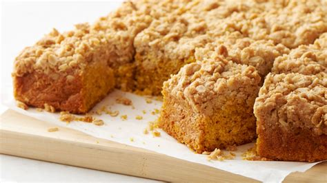 pumpkin streusel coffee cake recipe bettycrockercom