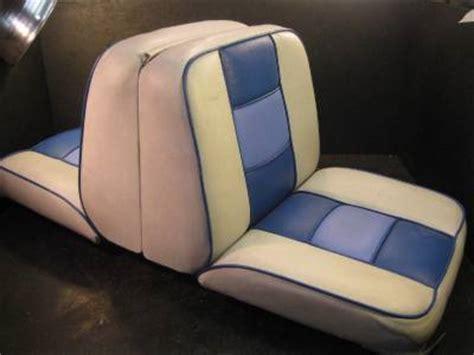 Used Folding Boat Seats by Folding Boat Seat Back To Back Backrest Side Blue White