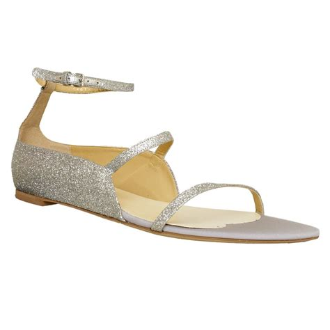 flat silver shoes stella mccartney shoes silver glitter flat sandals