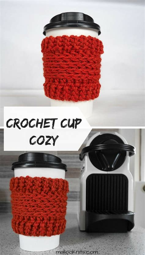 As promised, here is the free crochet pattern, complete with an invisible crochet and sewing on a button tutorial. Crochet coffee cup cozy free pattern - mallooknits.com