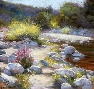 Peindre Au Pastel : au bord de l 39 eau peinture 40x40 cm 2011 par claude carvin art figuratif pastel riviere ~ Melissatoandfro.com Idées de Décoration