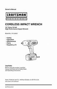 Impact Wrench Owner U0026 39 S Manual
