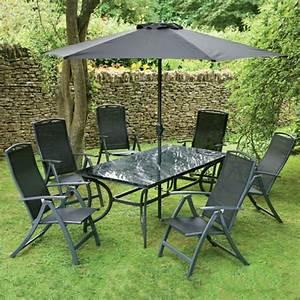 Sonnenschirm Tisch Kombination : gartenm bel set alu gehobene eleganz im garten ~ Markanthonyermac.com Haus und Dekorationen