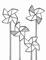 Coloring Pinwheels Pinwheel Illustrator Embroidery Pattern Rennea Tricia Patterns Craft Sheet Printable Applique Spinning Sheets Stitching Spring Idea Stitch Preschool sketch template