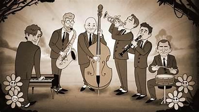 Jazz Cartoon Band Cartoonists Queen Cartoonist Queens