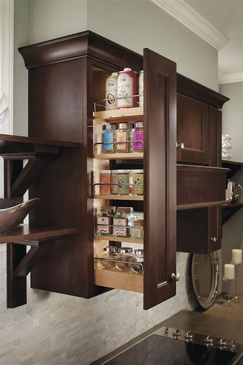 wall spice pull  cabinet homecrest cabinetry