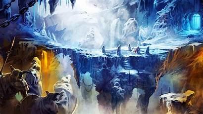 Trine Cave Ice Wallpapers Frozen Precipice Games