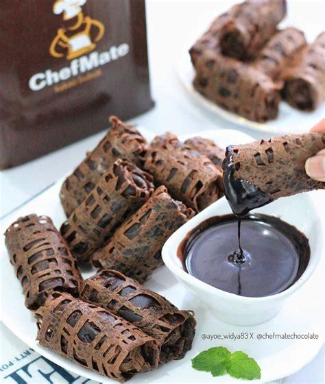 roti jala pisang saus coklat ide cemilan  simple