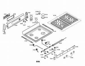 Bosch Gas Range Cabinet  Racks Parts