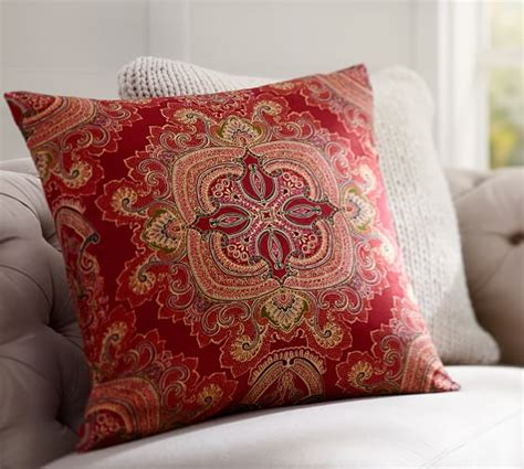 pottery barn large decorative pillows ainsley paisley pillow cover pottery barn