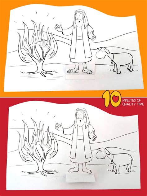 moses   burning bush craft  minutes  quality time