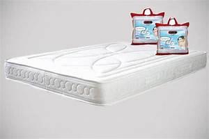 matelas 2 oreillers pack bolero With suspension chambre enfant avec protège matelas anti statique