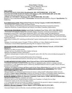 Resume Styles Marketing