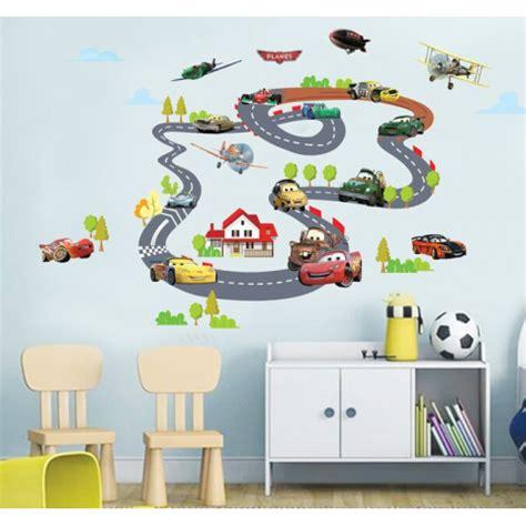 Klebefolie Kinderzimmer Junge by Wandtattoo Wandsticker Toys Cars Autorennbahn Wandtattoo