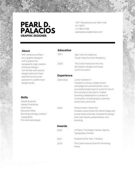 Chronological Resume Graphic Design by 14 Design Resume Professional Resume