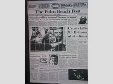 Hillsborough Disaster As Reported By US Newspaper