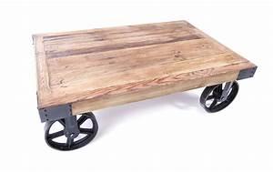 table basse industrielle sur roues decoration With superior meubles de rangement salon 5 decoration industrielle ma maison est magnifique
