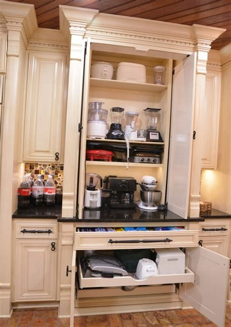 creative appliances storage ideas  small kitchens