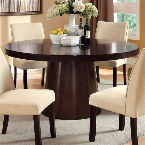 To ensure you don't choose a dining table size that is too small for your room, don't leave more than 6ft the bigger the table, the more dining parties are restricted to conversations with the person next to them. 20 Best Ideas of 6 Person Round Dining Tables