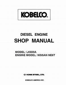 Nissan Diesel Engine Ne6 For Kobelco Pdf Service Manual