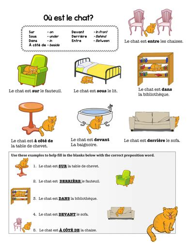 chambre des metiers 17 preposition practice by chezgalamb teaching
