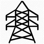 Tower Icon Electric Transmission Pylon Electricity Power