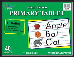 writing tablet paper for 1st grade pacon zaner bloser With mead learn to letter primary writing tablet