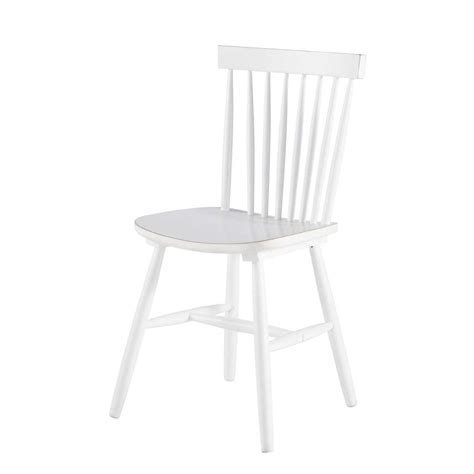 chaise vintage maison du monde rubber tree wood vintage chair in white fjord maisons du