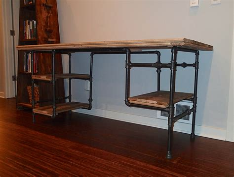iron pipe desk plans iron pipe desk google search the office pinterest