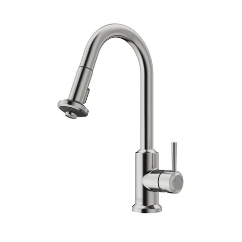 Vigo Stainless Steel Pull Out Kitchen Faucet by Vigo Single Handle Pull Out Sprayer Kitchen Faucet In