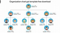 Simple organization chart ppt template free download- SlideEgg