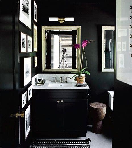 Black Bathrooms Ideas by Black Bathroom Black Walls Black Cabinets Powder Room