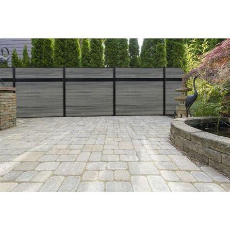 veranda euro style  ft    ft  estate oxford grey aluminumcomposite horizontal fence