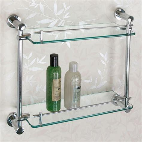 Ceeley Tempered Glass Shelf  Two Shelves Bathroom