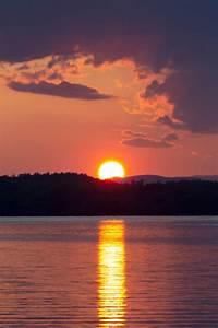 Free, Photo, Of, Warm, Lake, Sunset