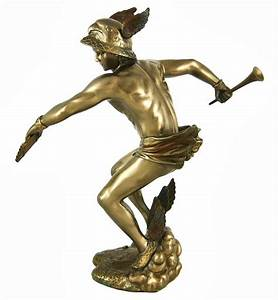 Greek God Hermes Bronzed Finish Statue and 50 similar items