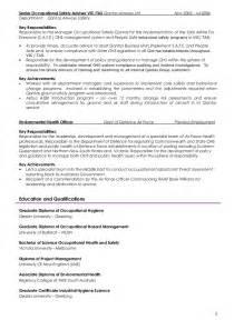 industrial hygiene resume exles generic resume bs nov14