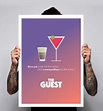 The Guest Quote Cosmopolitans Drinks Movie Poster 180gm ...
