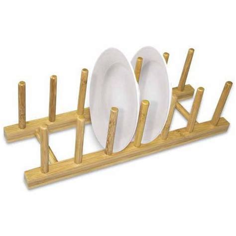 home basics bamboo dish rack walmartcom walmartcom