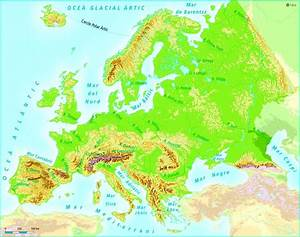 Mapa Rius Europa