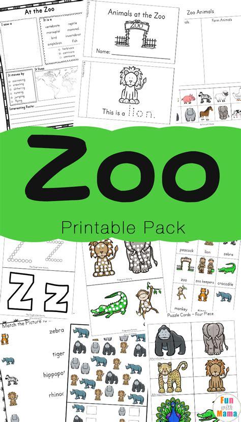 zoo animal activities for preschoolers kindergarteners with