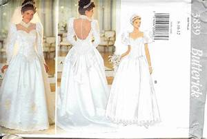 oop butterick sewing pattern misses bridal bridesmaids With butterick wedding dress patterns