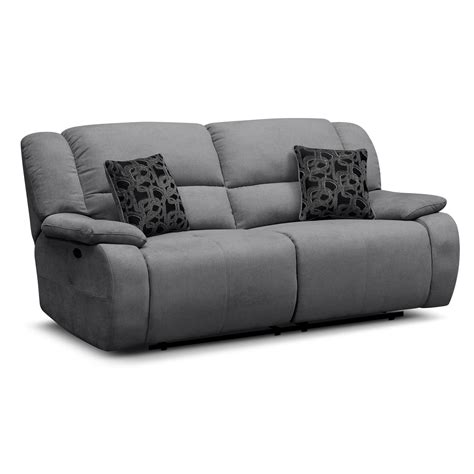 gray reclining loveseat destin gray power reclining sofa american signature