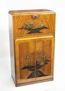 Antique Art Deco Chinoiserie Cocktail Cabinet c.1920