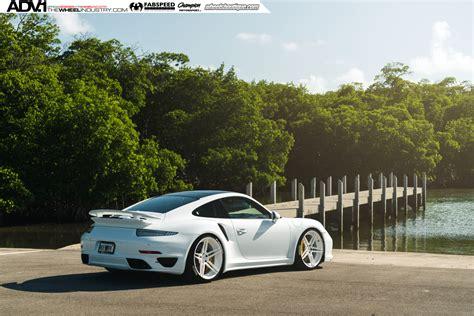 white porsche 911 turbo white porsche turbo s adv05 m v2 cs series wheels adv 1
