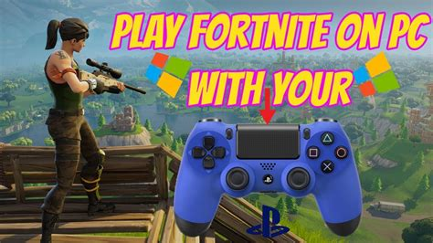 play fortnite  pc  ps controller youtube