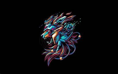 Creative Lion Background Mecha Vector Angga Cyber