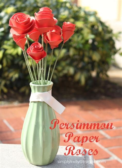 perfect paper craft persimmon paper roses bunch