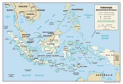Indonesia Map Cities Divisions Asia Global Detailed